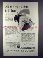 1927 General Electric Refrigerator Ad - Mechanism