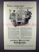 1928 General Electric Refrigerator Ad - Such a Comfort