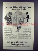 1928 General Electric Refrigerator Ad - Adds New Flavor