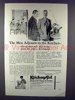 1928 KitchenAid Mixer Ad - Men Adjourn to the Kitchen