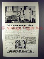 1929 General Electric Refrigerator Ad - Summer-Time
