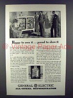 1929 General Electric Refrigerator Ad - Happy to Own it