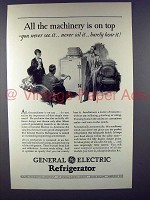 1929 General Electric Refrigerator Ad - Machinery Top