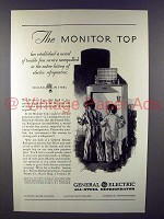 1930 General Electric Refrigerator Ad - Monitor Top