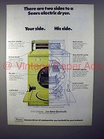 1970 Sears Kenmore Electric Dryer Ad - Two Sides!