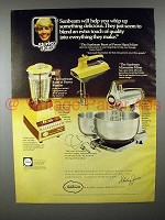 1978 Sunbeam Blender & Mixer Ad - Shirley Jones