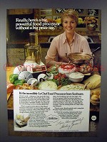 1978 Sunbeam Le Chef Food Processor Ad - Shirley Jones