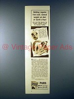 1938 Pard Dog Food Ad w/ Bulldog!