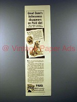 1938 Pard Dog Food Ad w/ Great Dane