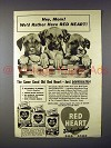 1942 Red Heart Dog Food Ad - Hey, Mom!
