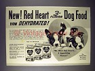 1942 Red Heart Dog Food Ad - Boton Terrier