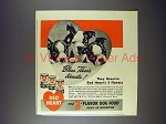 1942 Red Heart Dog Food Ad - Boston Terrier