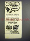 1942 Kellogg's Gro-Pup Dog Food Ad - Boston Terrier
