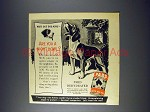 1943 Pard Dog Food Ad - Beagle - Night Howl?