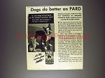 1945 Pard Dog Food Ad - Boston Terrier!