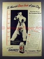 1945 Gaines Dog Food Ad - Nourish Every Inch