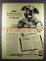 1946 Gaines Dog Food Ad - Bulldog!
