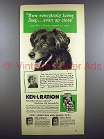 1952 Ken-L Biskit Dog Food Ad - Everybody Loves Jeep