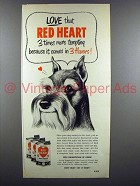 1952 Red Heart Dog Food Ad - Scottish Terrier