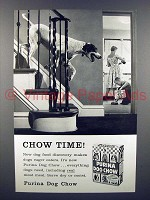 1958 Purina Dog Food Ad - Chow Time!