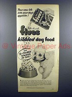 1959 Walter Kendall Fives Kibbled Dog Food Ad!