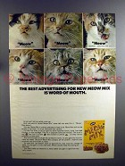 1975 Meow Mix Cat Food Ad - Word Of Mouth!