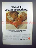 1970 Mattel Baby Tender Love Toy Doll Ad!