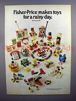 1972 Fisher-Price Toys Ad - For A Rainy Day!
