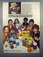 1977 Thermos Lunch Box Ad - Fonz, Snoopy, King Kong +