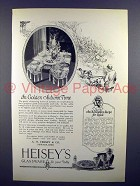 1926 Heisey's Glassware Ad - In Golden Autumn Time