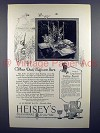 1926 Heisey's Glassware Ad - When Duck Days Are Here