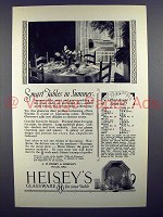 1927 Heisey's Glassware Ad - Smart Tables in Summer