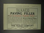1911 Texaco Paving Filler Ad!