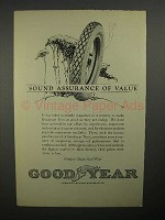 1922 Goodyear Tires Ad - Sound Assurance of Value