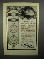 1922 Longines Watch Ad - Gift With A Reputation