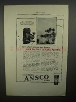 1923 Ansco No. 1 A Speedex Camera Ad - Turn Out Better