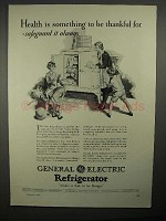 1928 General Electric Refrigerator Ad - Be Thankful