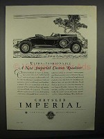 1929 Chrysler Imperial Roadster Car Ad - Fashionable