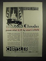 1929 Chrysler Car Ad - Proves What It Is