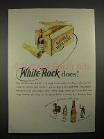 1935 White Rock Water Ad - Handle With Care!
