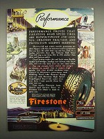 1935 Firestone Tires Ad - Performance!