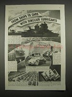 1935 Sinclair Oil Ad, U.S.S. Mississippi, Minneapolis