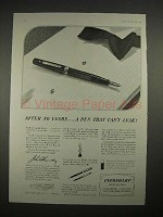 1935 Eversharp Fountain Pen Ad - Can't Leak