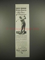 1935 True Temper Steel Golf Club Ad - Walter Hagen