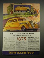 1935 Nash 400 Car Ad - Newest New Car In Years