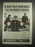 1935 Plymouth Car Ad - 56 More Police Departments