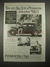 1935 Plymouth Car Ad - You Get All 4 for $510