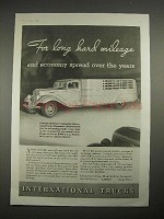 1935 International Harvester Truck Ad - Hard Mileage