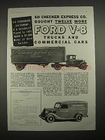 1935 Ford V-8 Truck Ad - Checker Express Co.