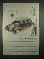 1935 Ford V-8 Car Ad - Watch the Fords Go By